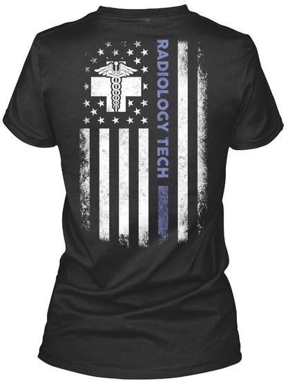 Radiology Tech Black T-Shirt Back