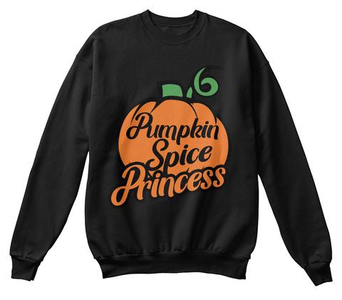 Pumpkin Spice Princess Black T-Shirt Front