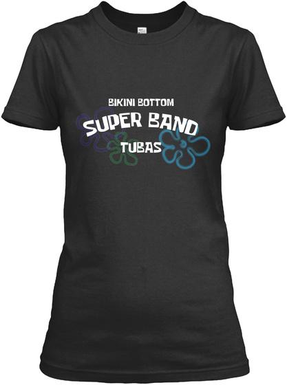 Bikini Bottom Tubas Black T-Shirt Front