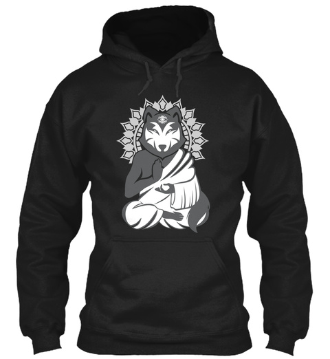 Are You Aware Wolf? Black T-Shirt Front