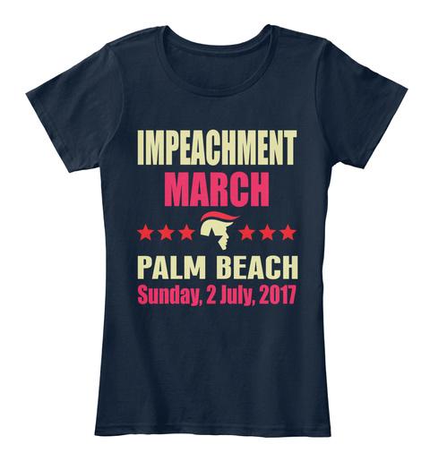 Impeachment March Shirt Palm Beach New Navy T-Shirt Front