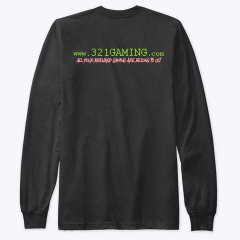 321 Gaming.Com Logo Black T-Shirt Back