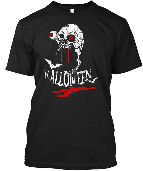 Halloween Happy Black T-Shirt Front