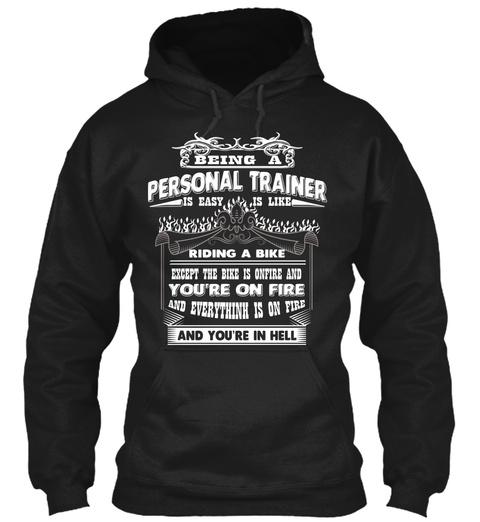 Personal Trainer Shirt Tshirt Mug Hoodie Black T-Shirt Front