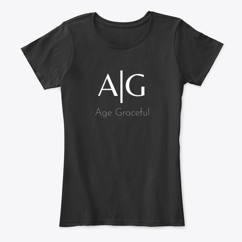 Age Graceful Classic Black Black T-Shirt Front