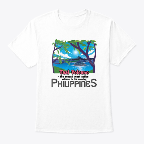Taal Volcano White T-Shirt Front