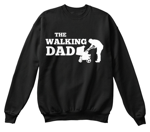 The Walking Dad Black Maglietta Front