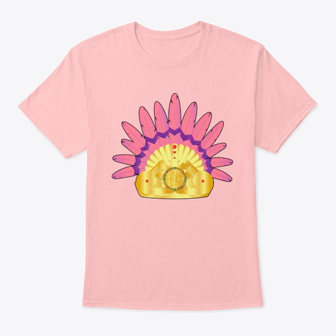 Aztec Queen Clothing Collection  Pale Pink T-Shirt Front