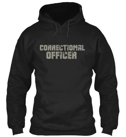 Correctional Officer Black T-Shirt Front