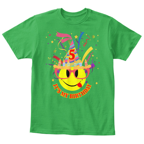 5 Its My Birthday Irish Green T Shirt Front
