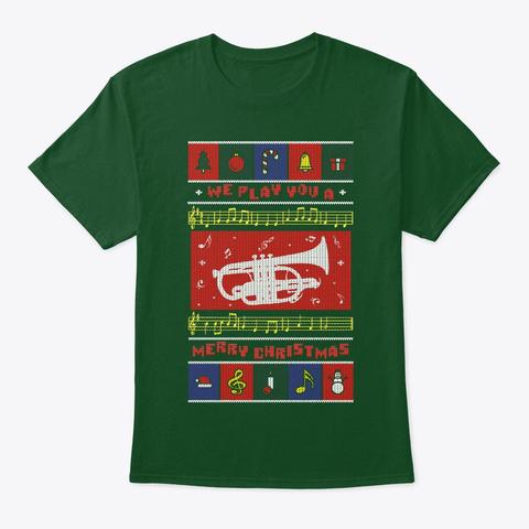 Cornet Ugly Christmas Deep Forest T-Shirt Front