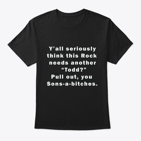 Pull Out Black T-Shirt Front