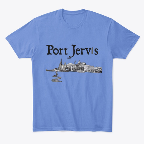 Port Jervis Covid 19 Relief Heathered Royal  T-Shirt Front