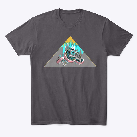 Drib's Motors By Miss Creature Heathered Charcoal  T-Shirt Front