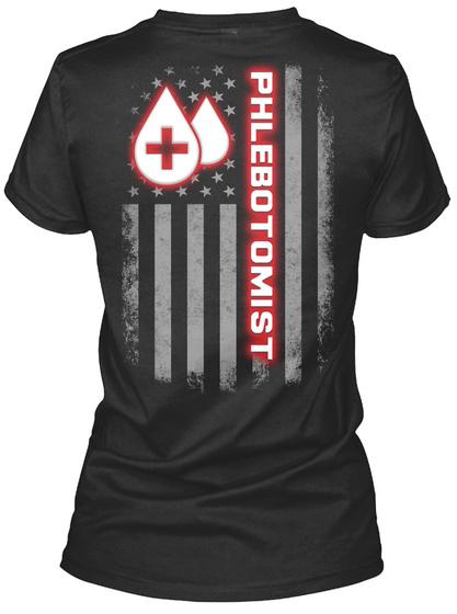 Phlebotomist Black T-Shirt Back