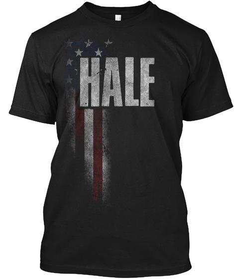 Hale Family American Flag Black T-Shirt Front