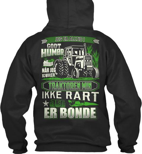 Ikke Rart Jeg Er Bonde ! Jet Black Sweatshirt Back