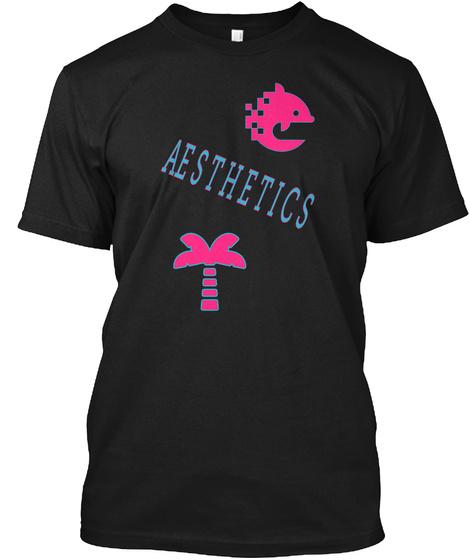 Aesthetics Black T-Shirt Front