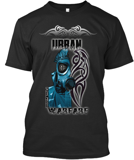 Urban Rogus Warfare Black Camiseta Front