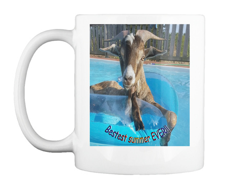 Bestest Summer Ever White Mug Front