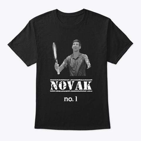 Djokovic No.1 Black T-Shirt Front