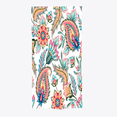 Floral Pattern Summer Beach Towel Standard Camiseta Front