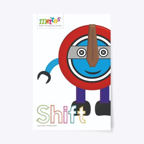 Shift – Mettas Character Poster Standard T-Shirt Front