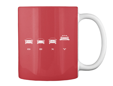 Sexy Bright Red Mug Back