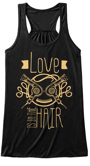Love Is In The Hair Black Damen Tank Top Front