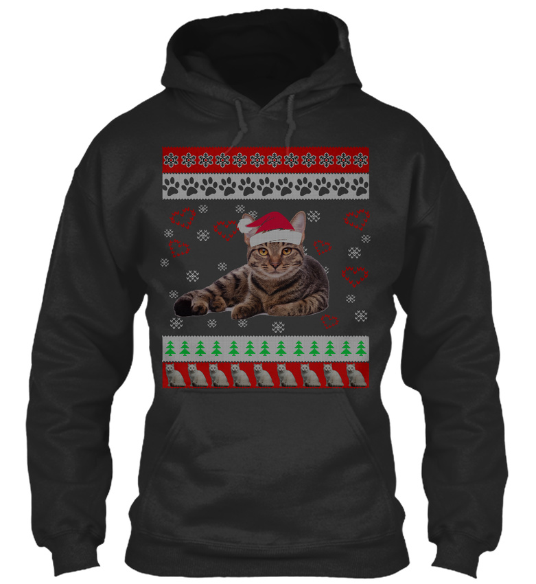 Long-lasting Cat Christmas Ugly Sweater Mom S Sweat Sweat Sweat Sweat à Capuche Confortable 7bf856