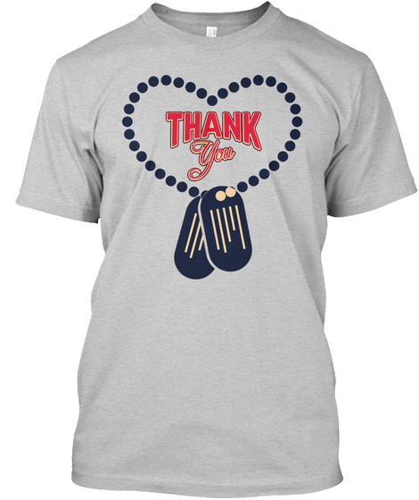 Thank You Light Steel T-Shirt Front