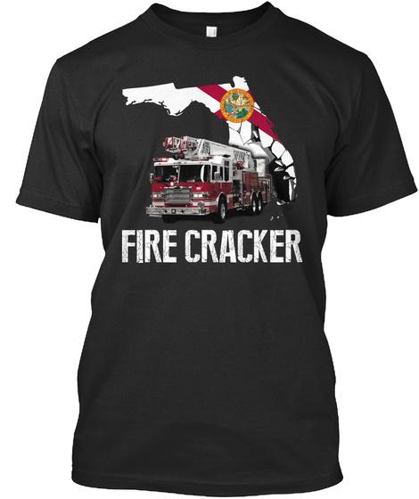 Fire Cracker Black T-Shirt Front
