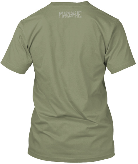 "The ""Moments"" Campaign Light Olive T-Shirt Back"