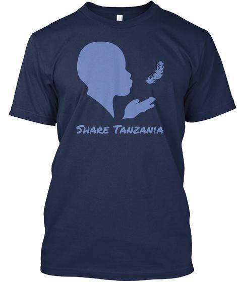 Share Tanzania Navy T-Shirt Front