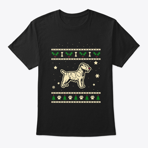 Christmas Russell Terrier Gift Black T-Shirt Front