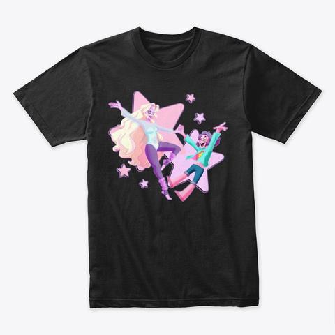 Rainbow Generations Black T-Shirt Front
