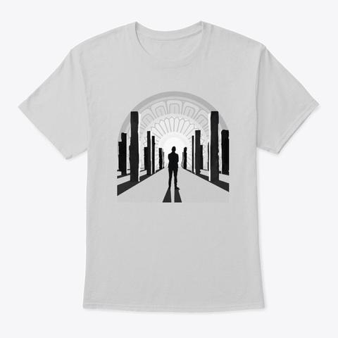 Digital Paintings   Pillars Light Steel T-Shirt Front