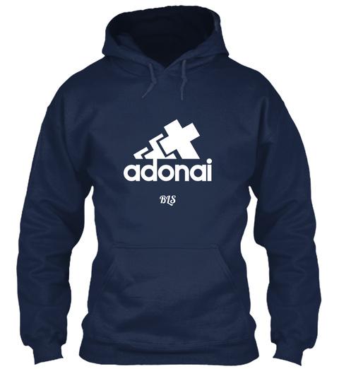 Adonai Bls Oxford Navy T-Shirt Front