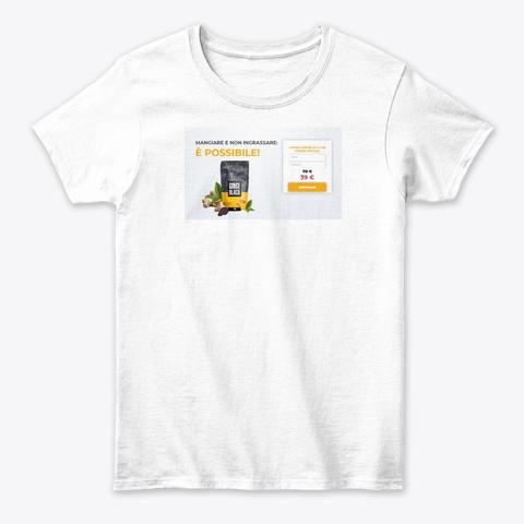 Ginge Black Italy White T-Shirt Front