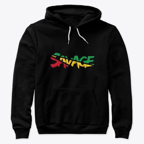 Savage Tee Black T-Shirt Front