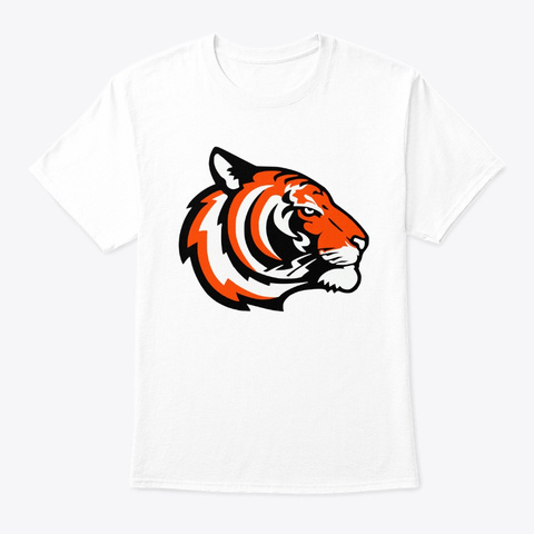 Tiger Cotton Tees Short Sleeve T Shirt White T-Shirt Front