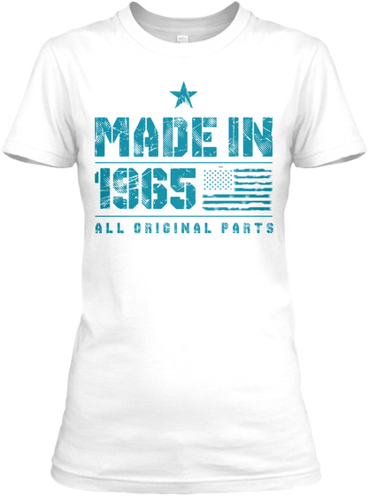 Made In 1965 All Originals Pants White T-Shirt Front