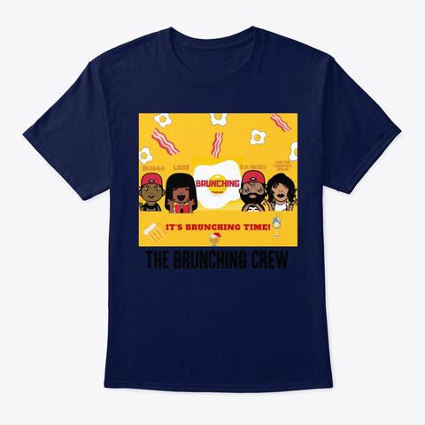 The Brunching Crew Cartoon Tee Navy T-Shirt Front