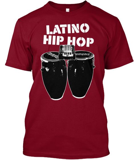 Latino Hip Hop Cranberry T-Shirt Front