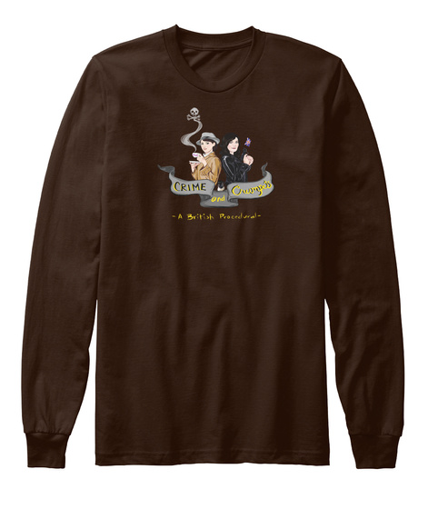 Crime And Crumpets  Brown T-Shirt Front