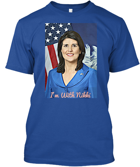 I'm With Nikki Deep Royal T-Shirt Front