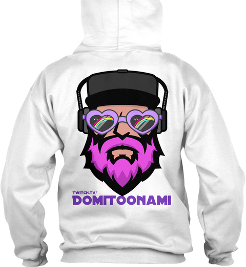 Twitch.Tv/ Domi Toonami White T-Shirt Back
