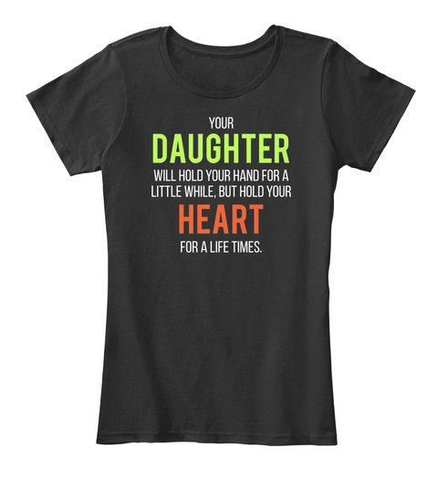 #Mothers Day2017 | Mother Daughter Black T-Shirt Front