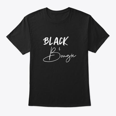 Black & Bougie Black T-Shirt Front