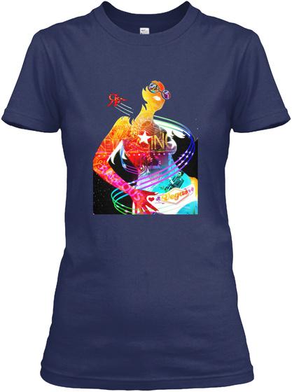 Rogue Women Vegas Navy T-Shirt Front